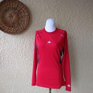 Adidas tech fit long sleeve breathable shirt